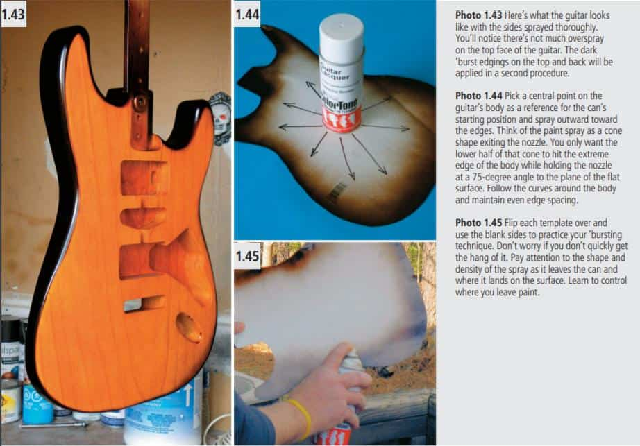How guitar looks like after spraying